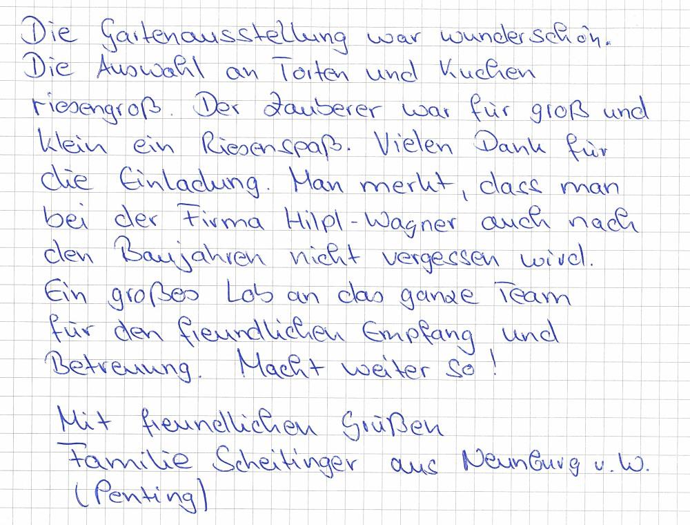 kunden stimme fam scheitinger - Muster Dankschreiben Fr Gute Zusammenarbeit