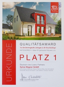 Urkunde-Qualitaetsaward-Sylvia-Wagner-GmbH-town-und-country
